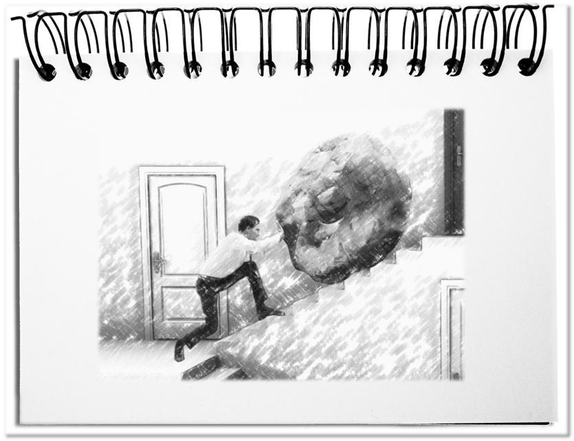Der Felsblock des Sisyphos - die ideale Metapher für Disruptionen